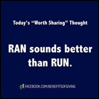 ran rather than run