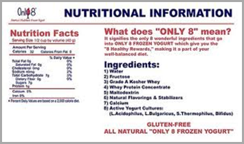 only 8 nutrition