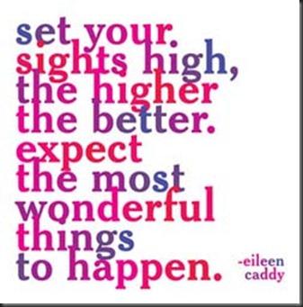 set sights high