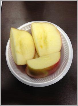 cut up apple monday