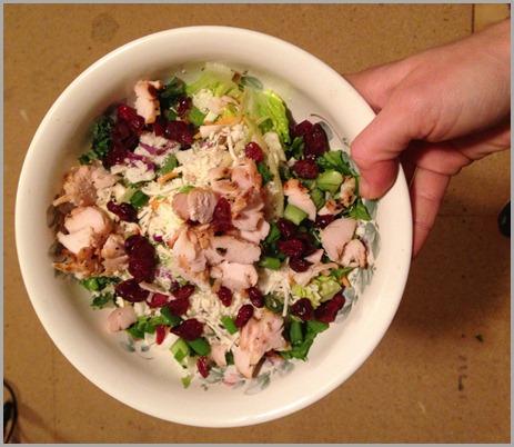 jan 13 dinner salad with grilled chicken