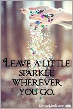 sparkle where you go