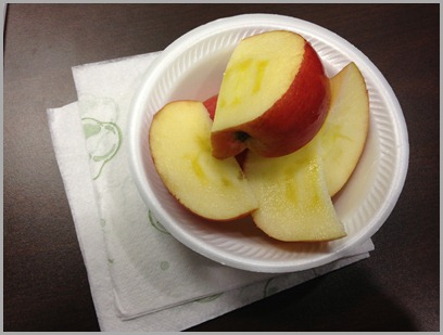 thursday snack apple