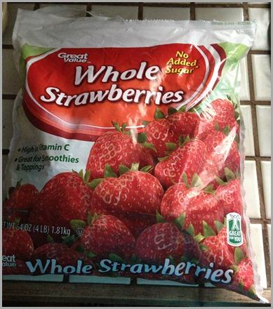 whole strawberries bag