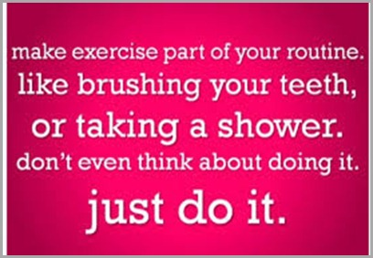 make exercise part of routine