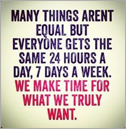 make time for what we want