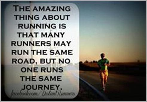 no one runs the same journey