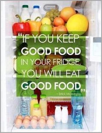 good food in fridge