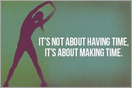 it is not about having time but making it