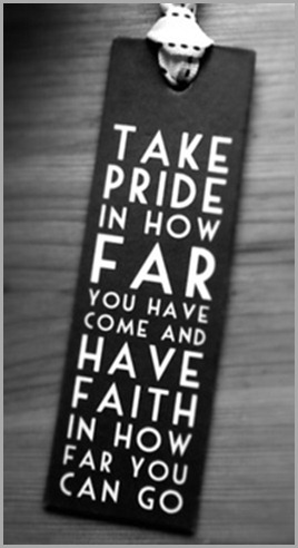 take pride in